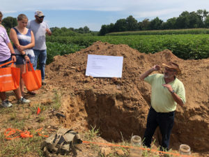 A soil demonstration pit