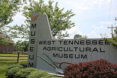 West Tennessee Agricultural Museum entrance sign