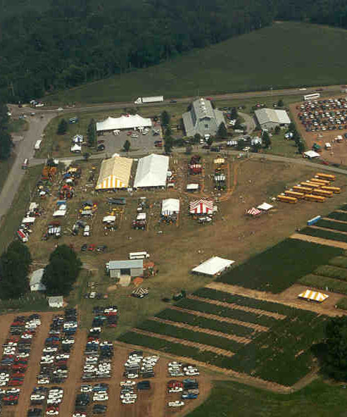 Aerial view of the Milan No-Till Field Day